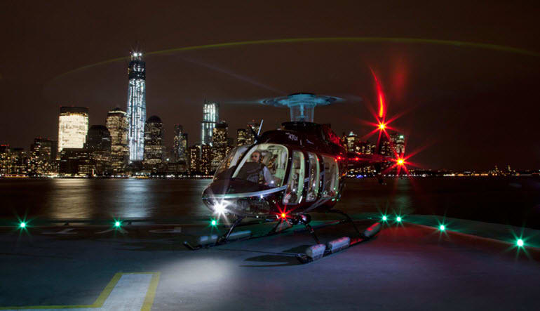 Helicopter Ride New York City City Lights Night Photo