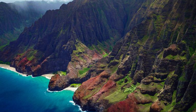 Private Helicopter Tour Kauai Island Cliffs