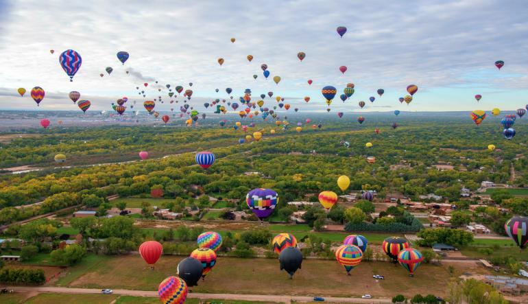 Hot Air Balloon Ride Albuquerque, Balloon Fiesta Flight - 1 Hour Weekend Flight