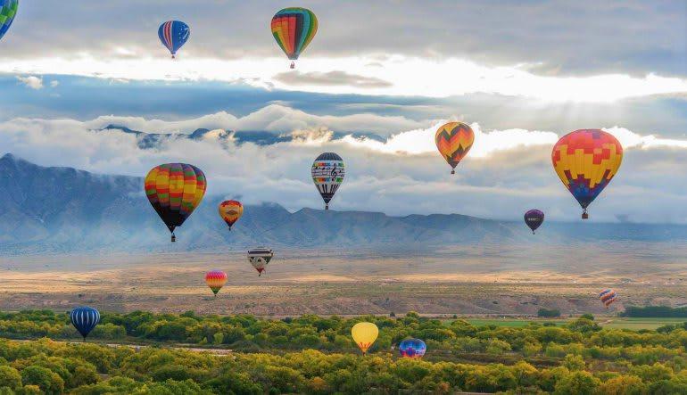 Hot Air Balloon Ride Albuquerque Fiesta Flight, 1 Hour Weekday Flight