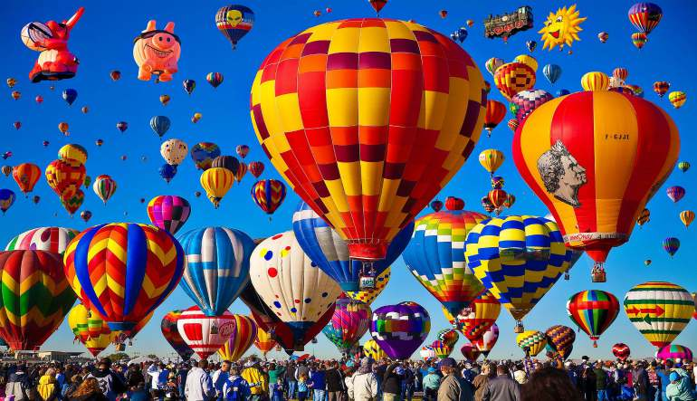 Hot Air Balloon Ride Albuquerque, Balloon Fiesta Flight - 1 Hour Weekday Flight