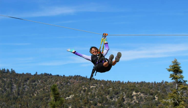 Ziplining Big Bear Lake Laugh