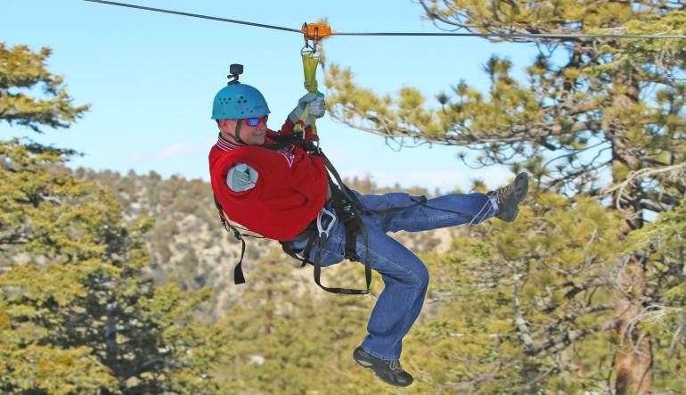 Ziplining Big Bear Lake