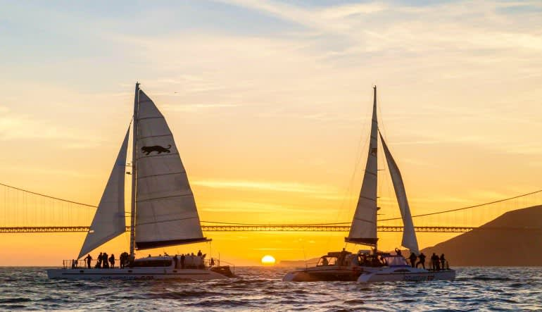 San Francisco Bay Sunset Sailing Cruise - 1.5 Hours