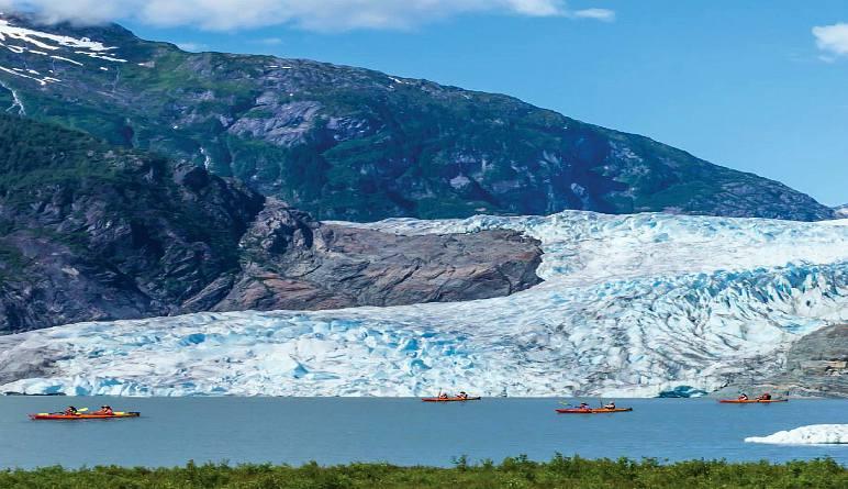 Kayaking Mendenhall Glacier View Tour, Juneau - 3.5 hours