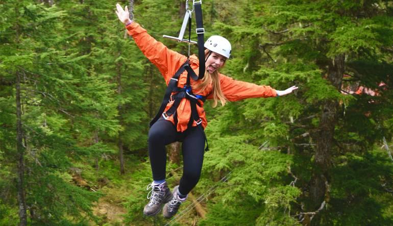 Ketchikan Rainforest Zipline, Skybridge and Rappel Adventure, 3.5 Hours