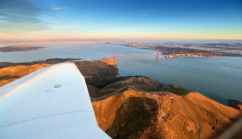 Golden Gate Scenic Plane Flight, San Francisco Bay Area  - 50 Minutes