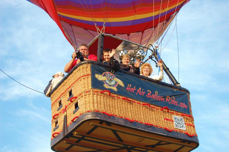 Hot Air Balloon Ride Cincinnati Basket