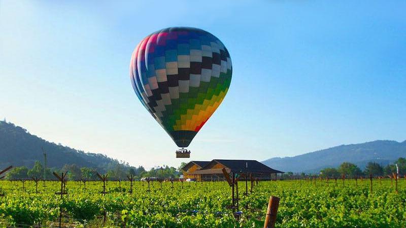 Hot Air Balloon Rides Napa Valley Vineyard