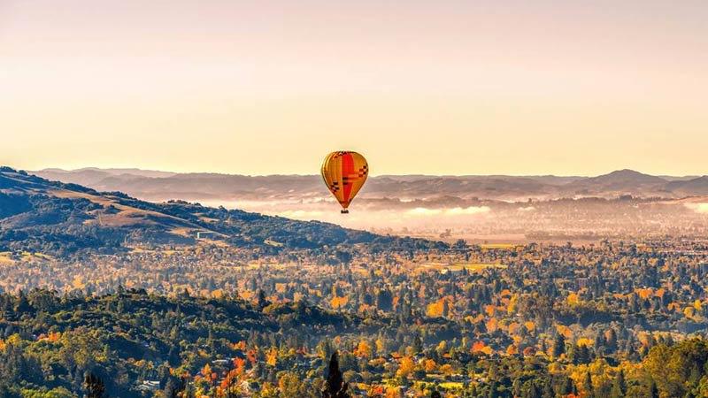 Hot Air Balloon Rides Napa Valley Landscape