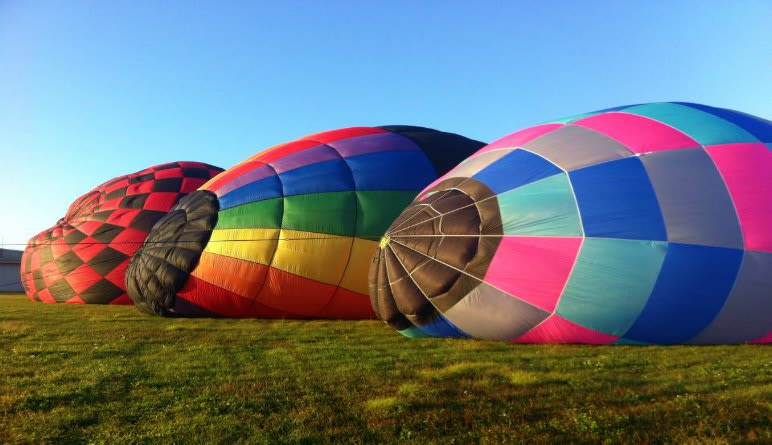 Hot Air Balloon Rides Miami Inflating