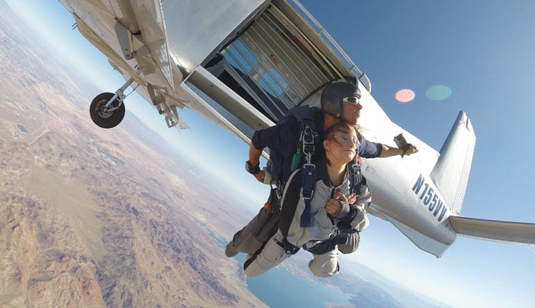 Skydive Las Vegas with Pro Video and Photo Package Included, Boulder City - 12,500ft Jump (FREE ROUND TRIP SHUTTLE INCLUDED!)