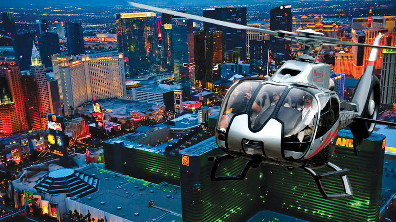 Helicopter Tours Las Vegas,  Night Flight incl Shuttle & Champagne