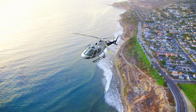Helicopter Ride Los Angeles Coastline