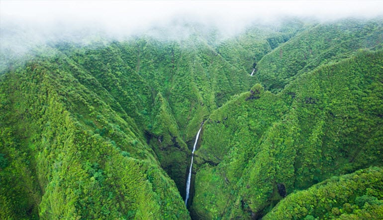 Helicopter Tour Oahu, Doors Off Sacred Falls - 45 Minutes