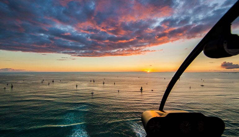 Helicopter Tour Oahu, Waikiki Sunset - 20 Minutes
