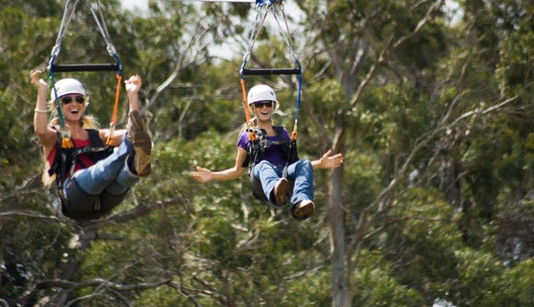 Zipline Tour Maui Ladies