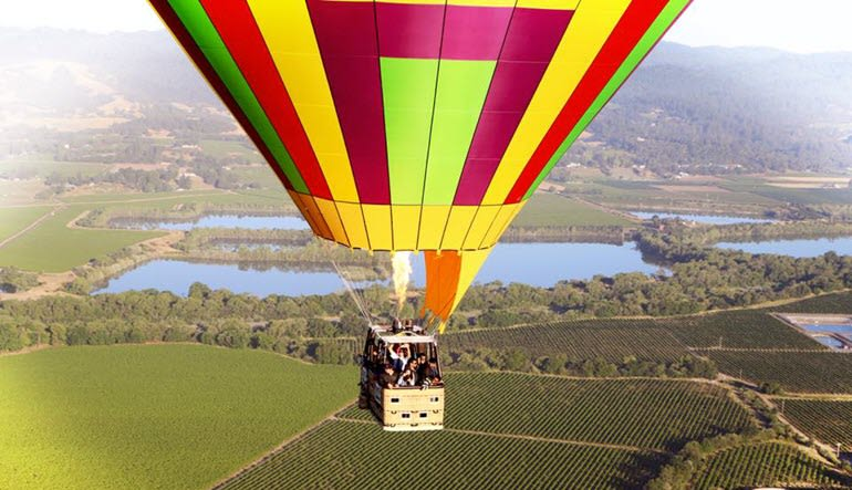 Hot Air Balloon Ride Sonoma Basket