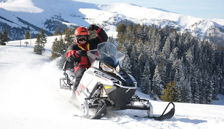 Snowmobile Mountain Tour Single