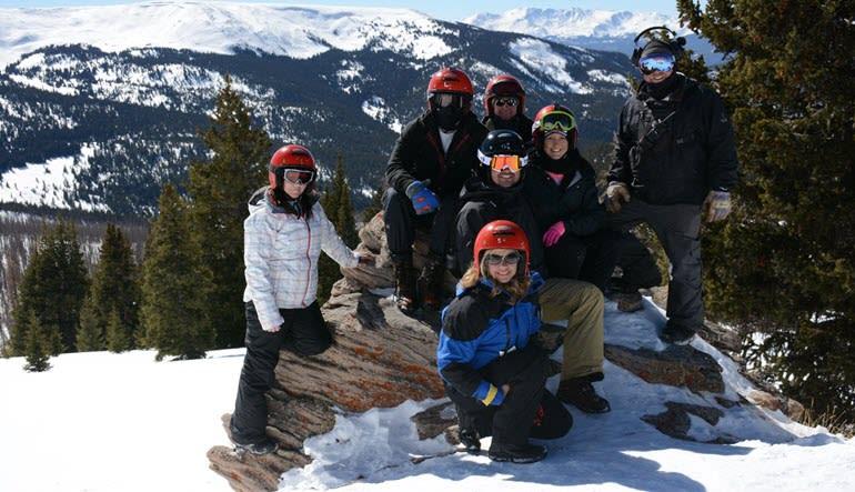 Snowmobile Mountain Denver Tour Family