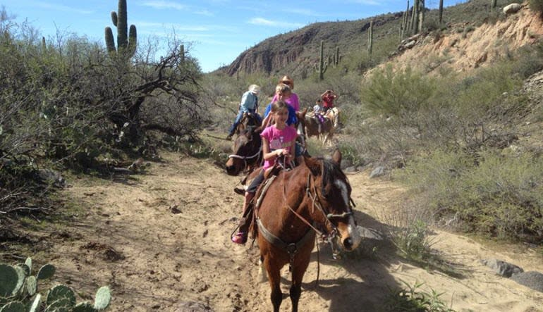 Horseback Riding Phoenix Little Girl