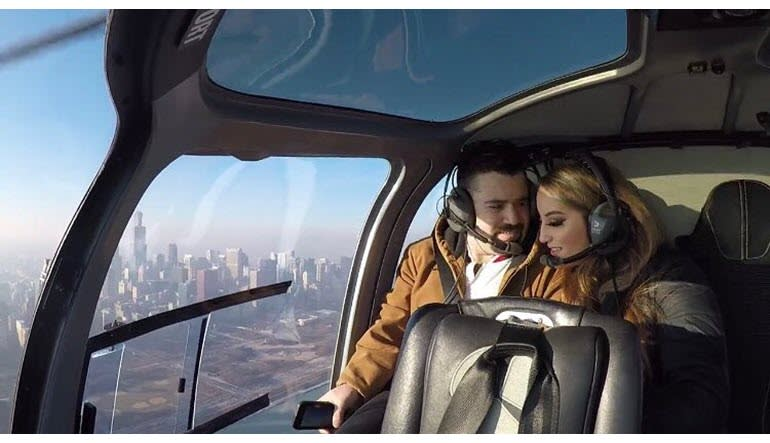 Helicopter Ride Chicago Couple