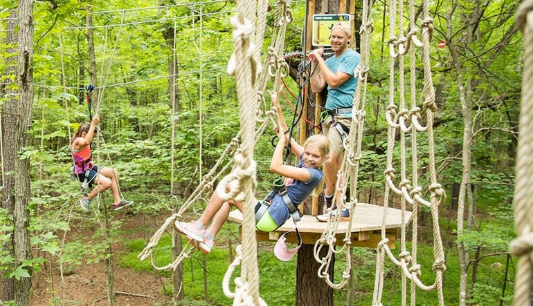 Zipline Treetop Adventure Family