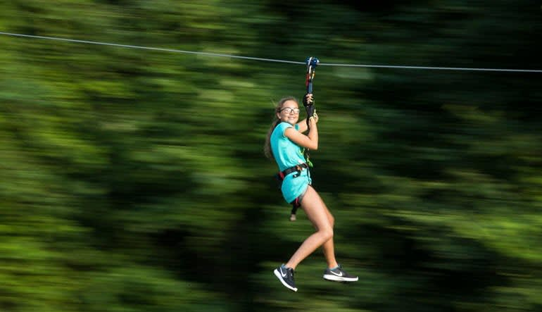 Zipline Treetop Adventure Flying