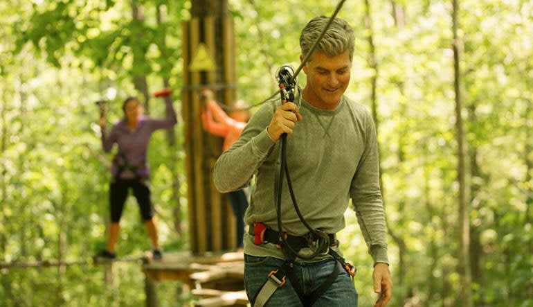 Zipline Treetop Adventure Dad