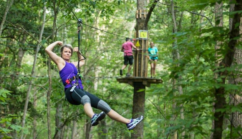 Zipline Treetop Adventure Delaware