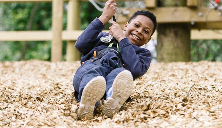 Zipline Treetop Adventure Delaware Boy