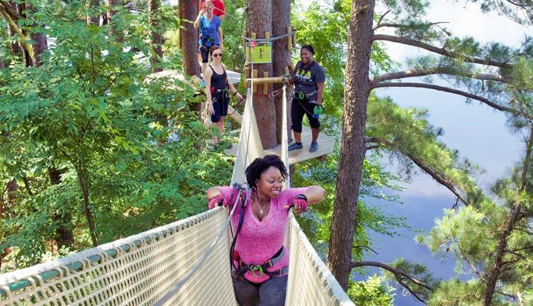 Zipline Treetop Adventure Delaware Lady
