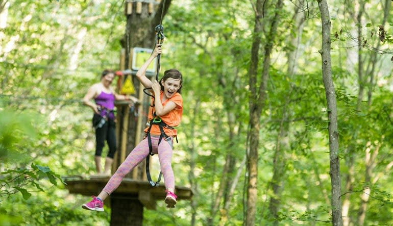 Zipline Treetop Adventure Derwood Little Girl