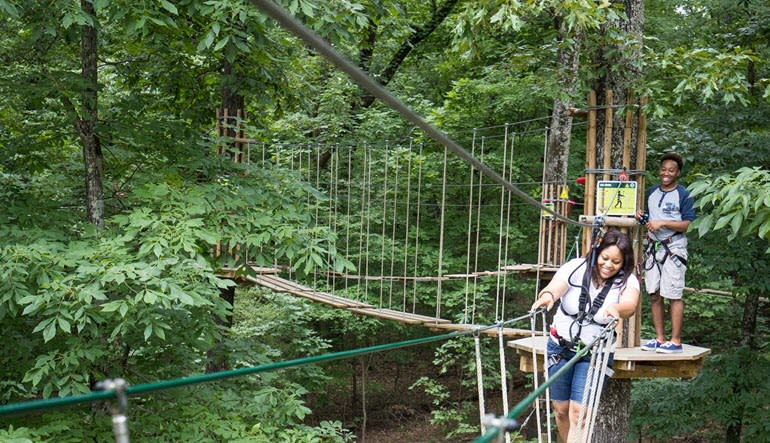 Zipline Treetop Adventure Derwood Fun