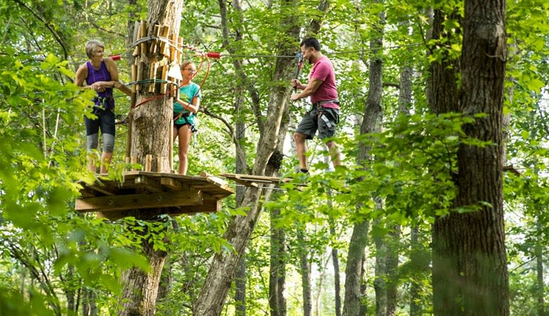 Zipline Treetop Adventure Virginia Family