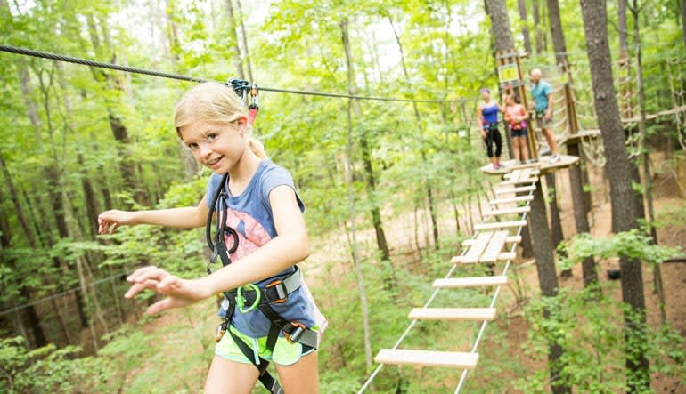 Zipline Treetop Adventure Indianapolis Girl
