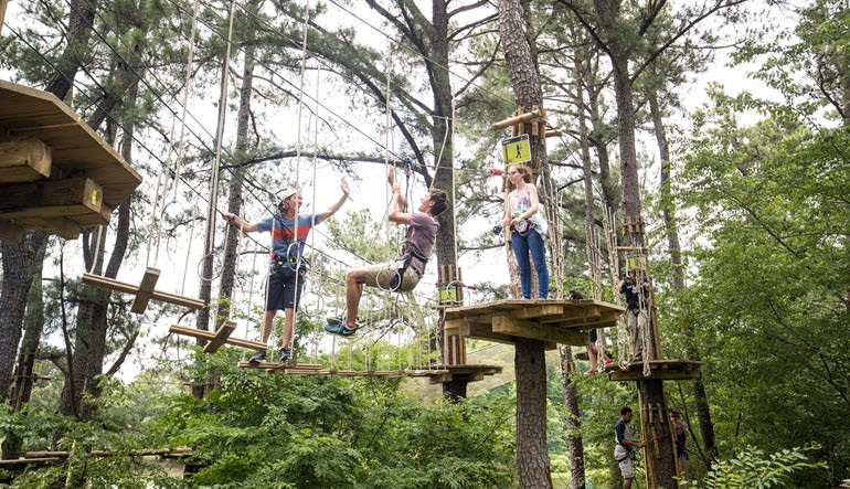 Zipline Treetop Adventure Indianapolis Friends