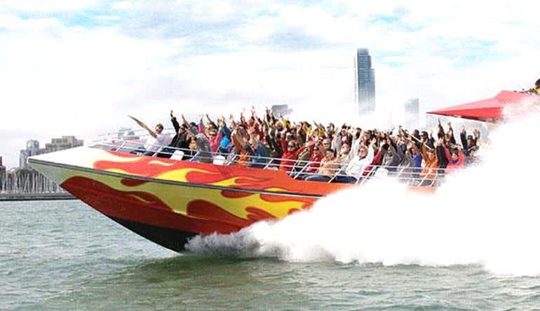 San Francisco Bay Rocket Boat Action