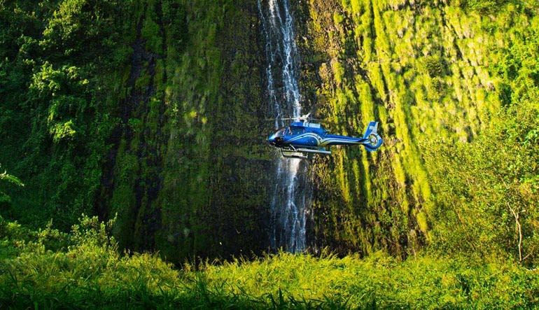Helicopter Tour Big Island Waterfall Landing Views