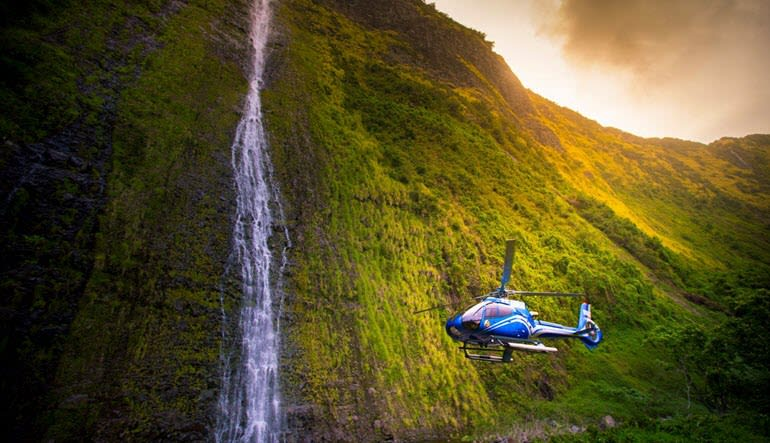 Helicopter Tour Big Island Waterfall Landing