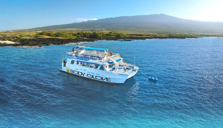 Big Island Catamaran Tour, Kona Snorkel and Dolphin Tours, 4.5hr