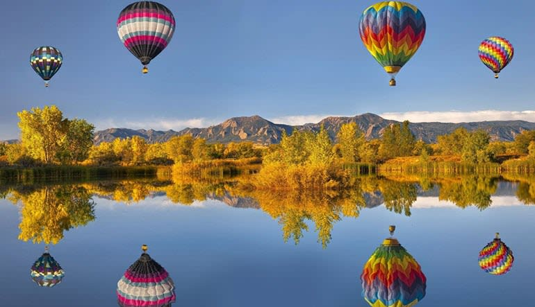 Hot Air Balloon Ride Boise Reflections