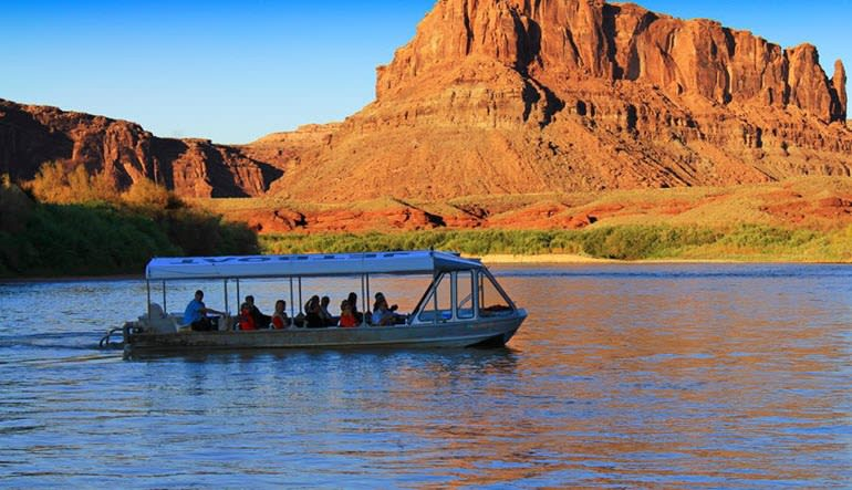Colorado River Jet Boat Ride Sunset