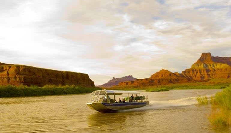 Colorado River Jet Boat Ride Action