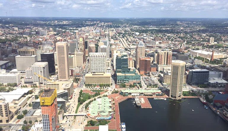 Helicopter Tour Baltimore City Views