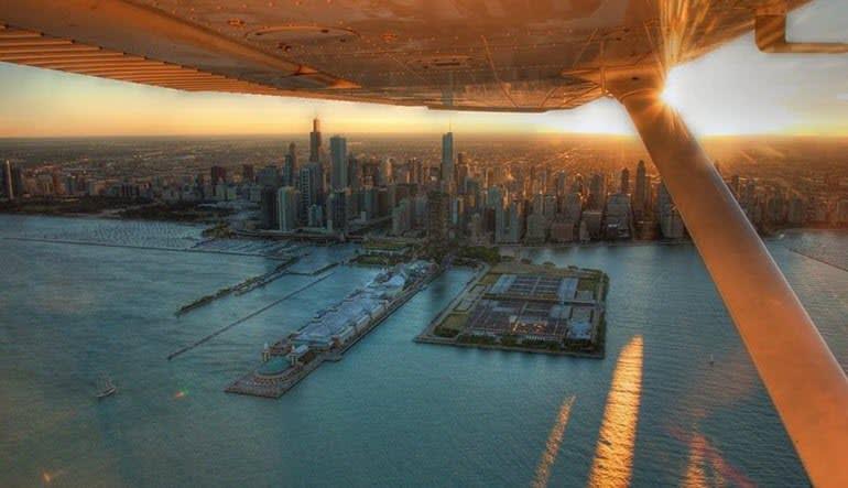 Flight Lesson Chicago Sunset