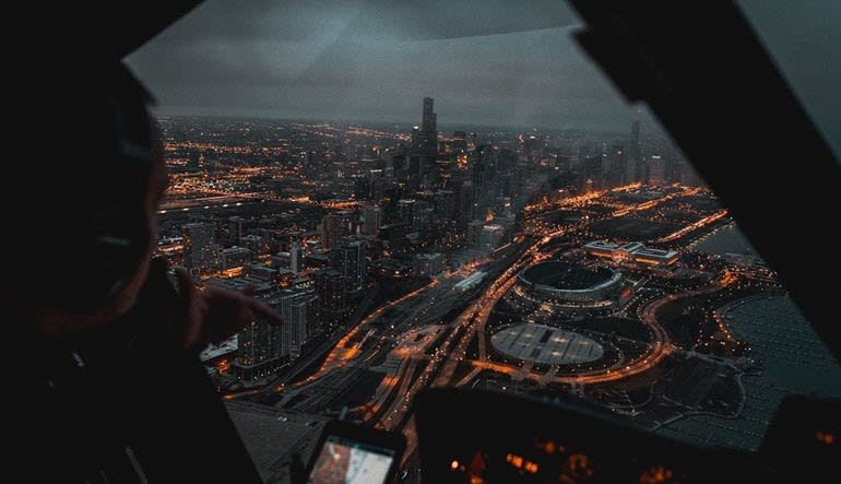 Helicopter Tour Chicago City Lights