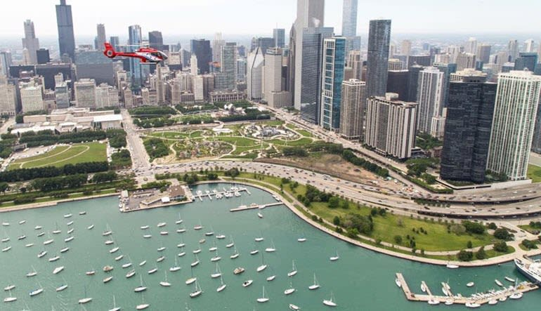 Helicopter Tour Chicago Day Time