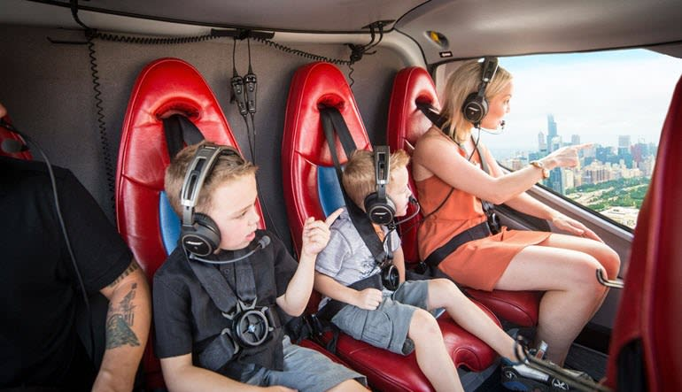 Private Helicopter Tour for 6 Chicago Family