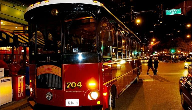 Chicago Trolley Night Tour Hop On